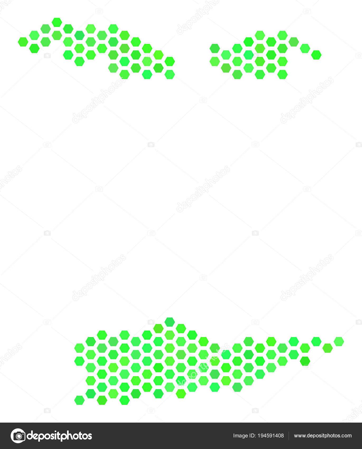 Green Honeycomb USA Virgin Islands Map — Stock Vector © ahasoft ...
