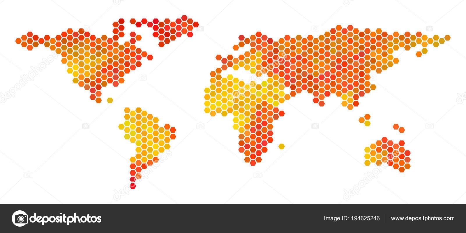 Hot hexagon world map stock vector ahasoft 194625246 hot hexagon world map stock vector gumiabroncs Gallery