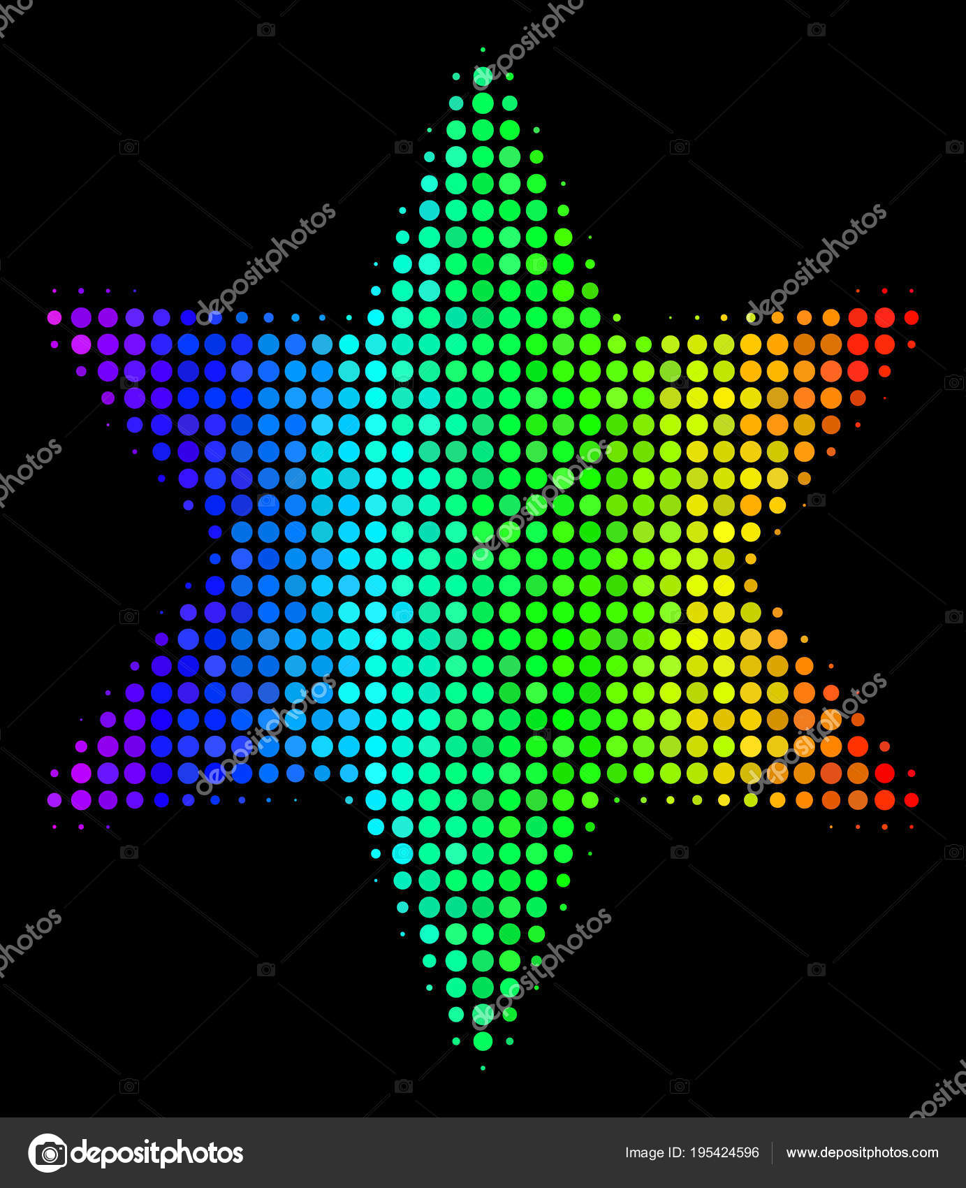 Spectre Ponctuée De Feux Dartifice Icône étoile Image