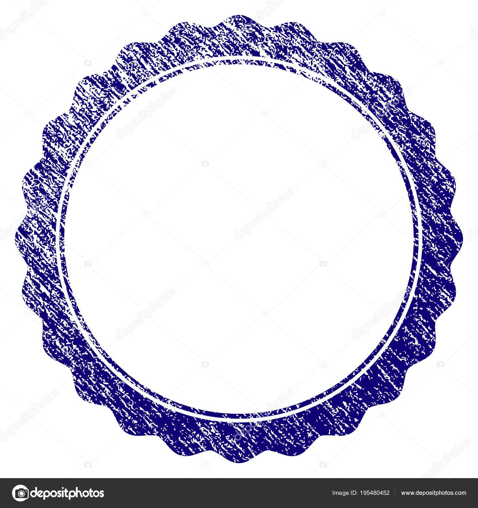 Grunge textura marco Circular de la roseta de certificado — Archivo ...