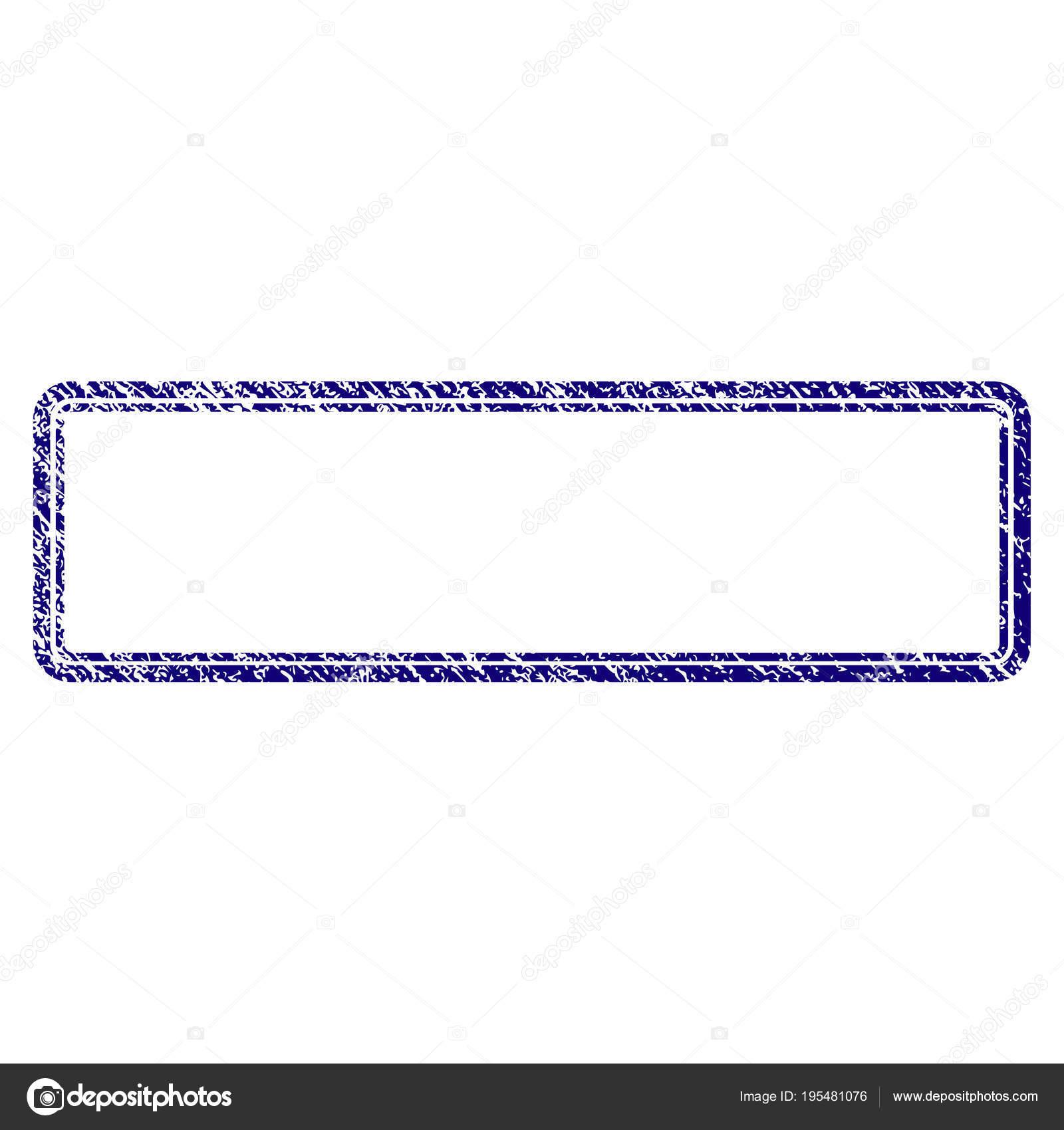Grunge textura marco doble rectángulo redondeado — Vector de stock ...