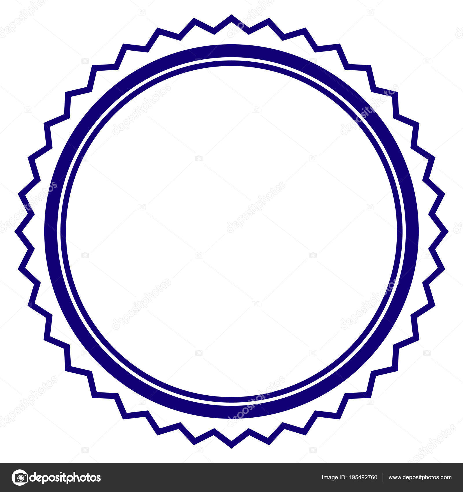 Rosette Seal Frame Template Stock Vector C Ahasoft 195492760