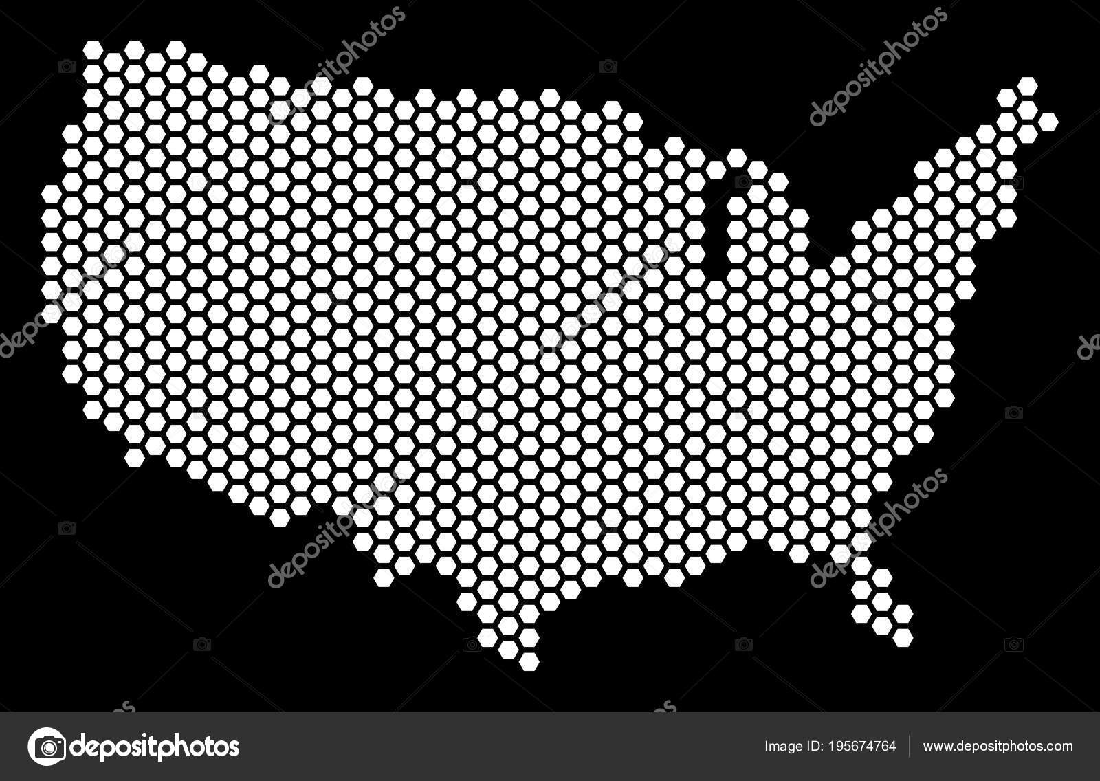 Hex Tile USA Map — Stock Vector © ahasoft #195674764