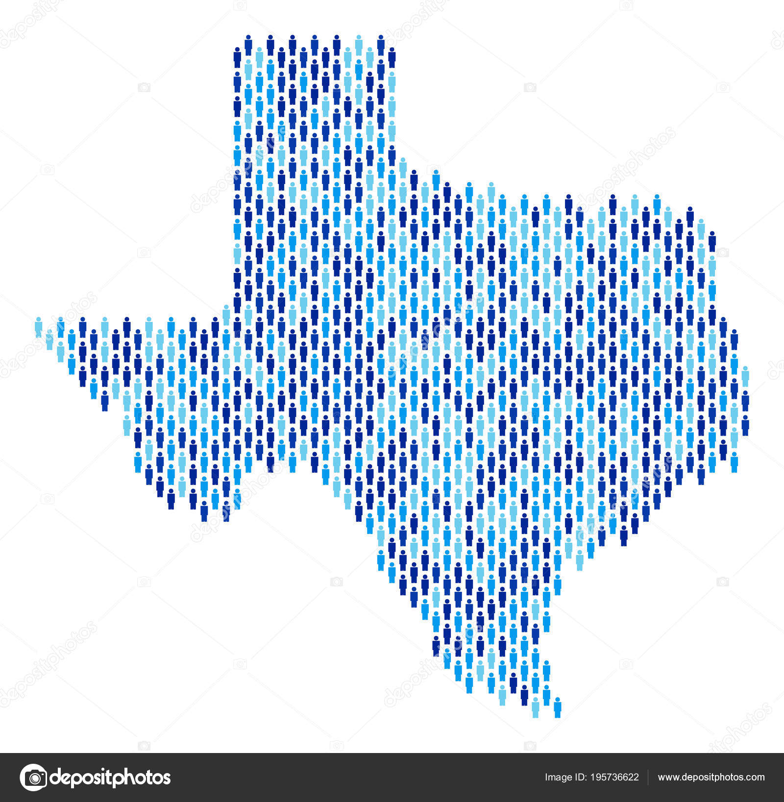 Population Map Of Texas.Texas Map Population People Stock Vector C Ahasoft 195736622