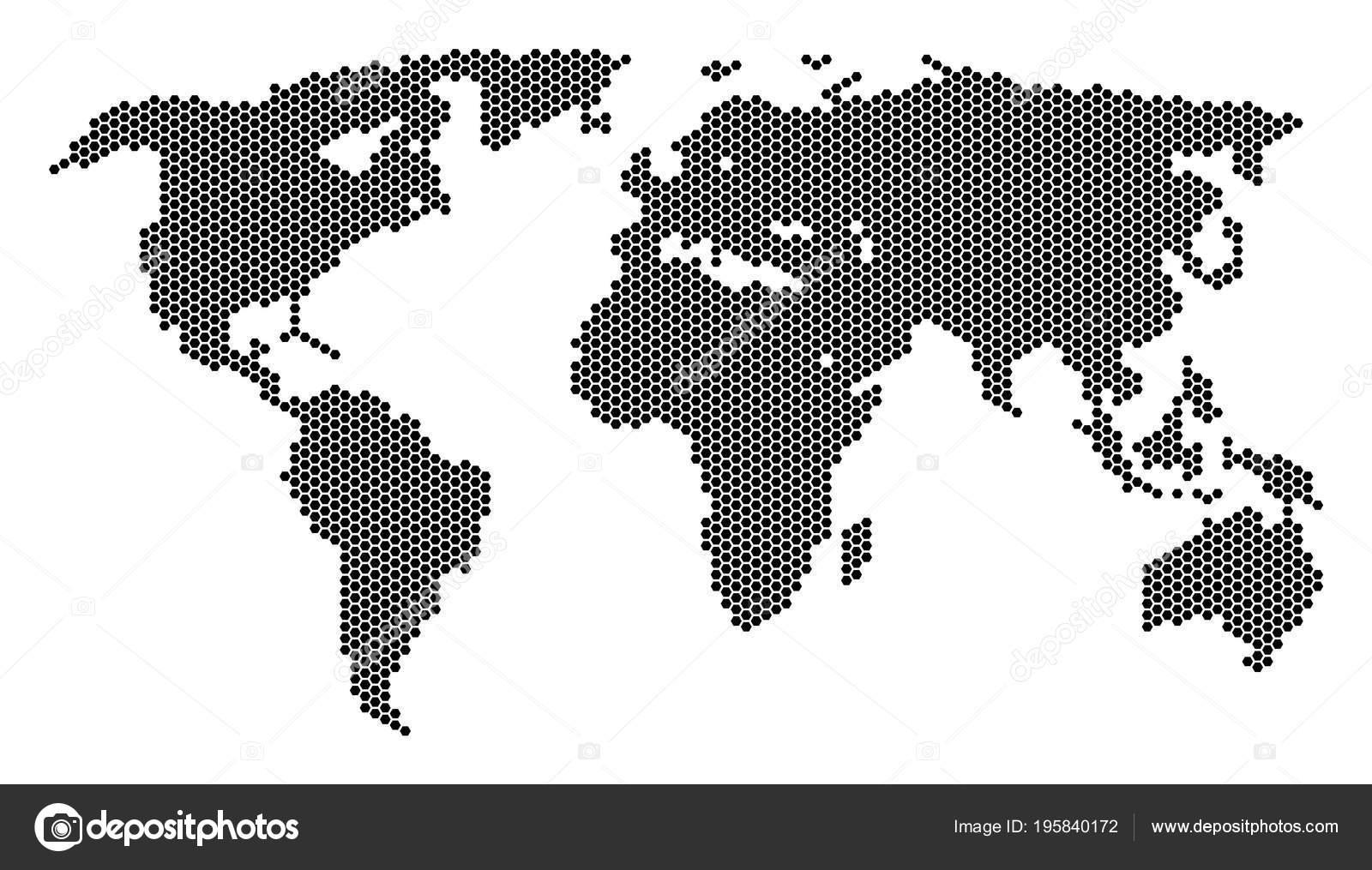 Hexagonal world map stock vector ahasoft 195840172 hexagonal world map stock vector gumiabroncs Gallery