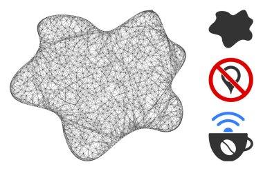 Dirt Spot Polygonal Web Vector Mesh Illustration