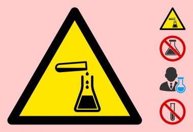Vector Chemistry Warning Triangle Sign Icon