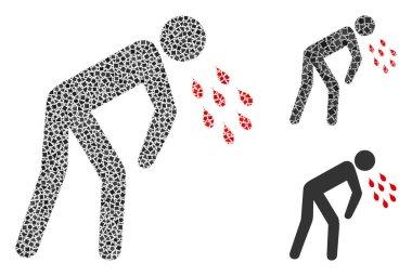 Irregular Coronavirus Sickness Icon Mosaic