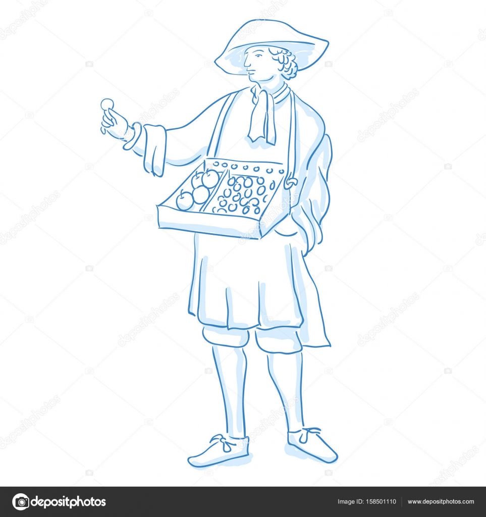 Medieval salesman, merchant marketer. Middle social class in ...