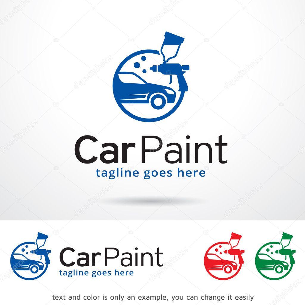 Diseño de plantillas de logotipo de pintura coche — Vector de ...