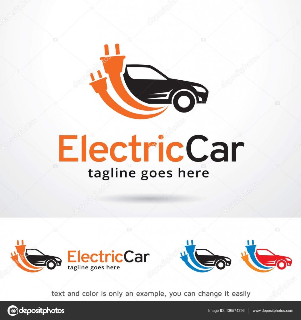 Coche eléctrico Logo plantilla diseño Vector, emblema, concepto ...