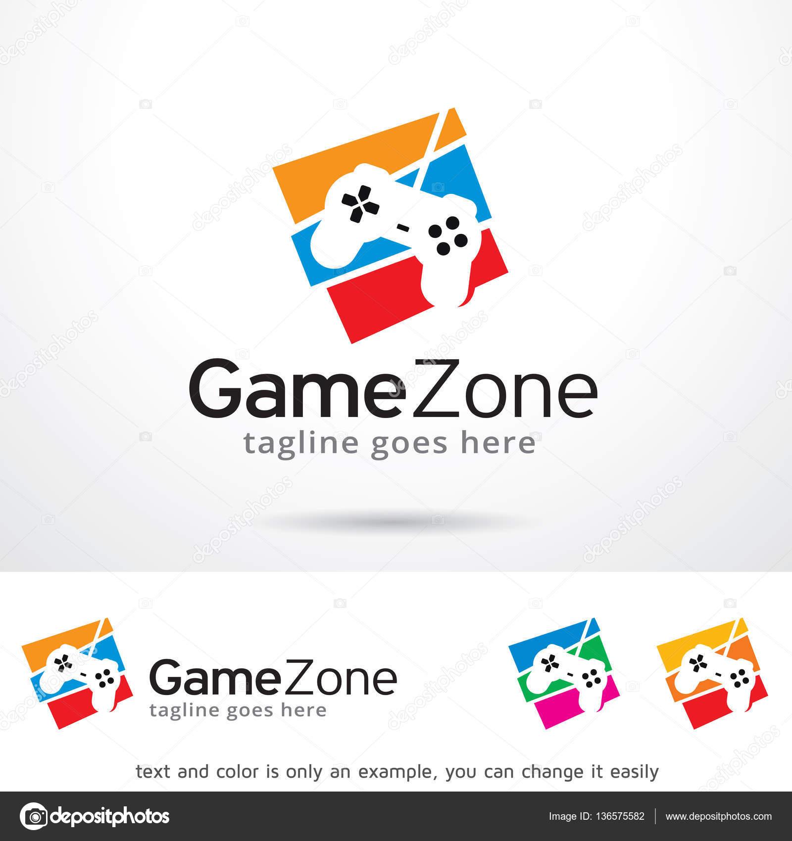 Juego Creativo Concepto Zona De Juegos Logotipo Plantilla Diseno