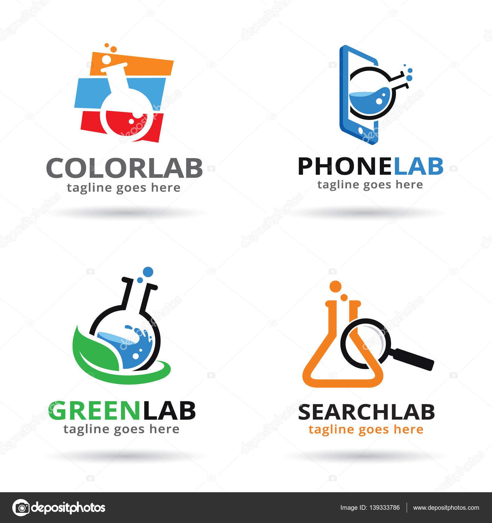 Diseño de plantilla de logotipo de laboratorio — Archivo Imágenes ...