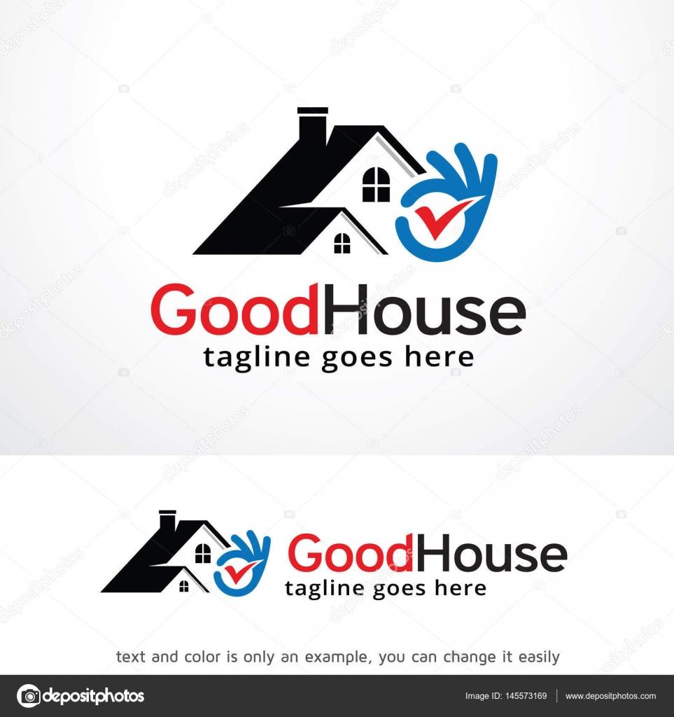 Gutes Haus Logo Template Design — Stockvektor © gunaonedesign #145573169