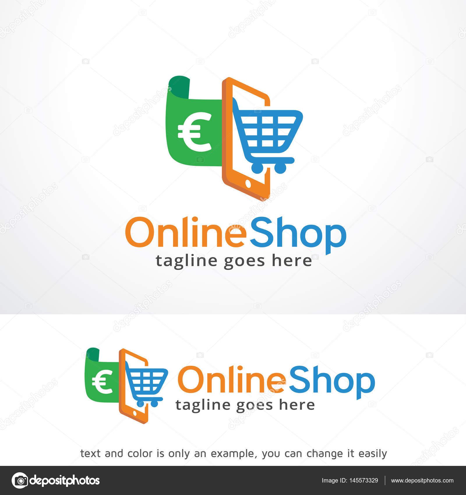 Online Shop Logo Template Design Stock Vector Gunaonedesign