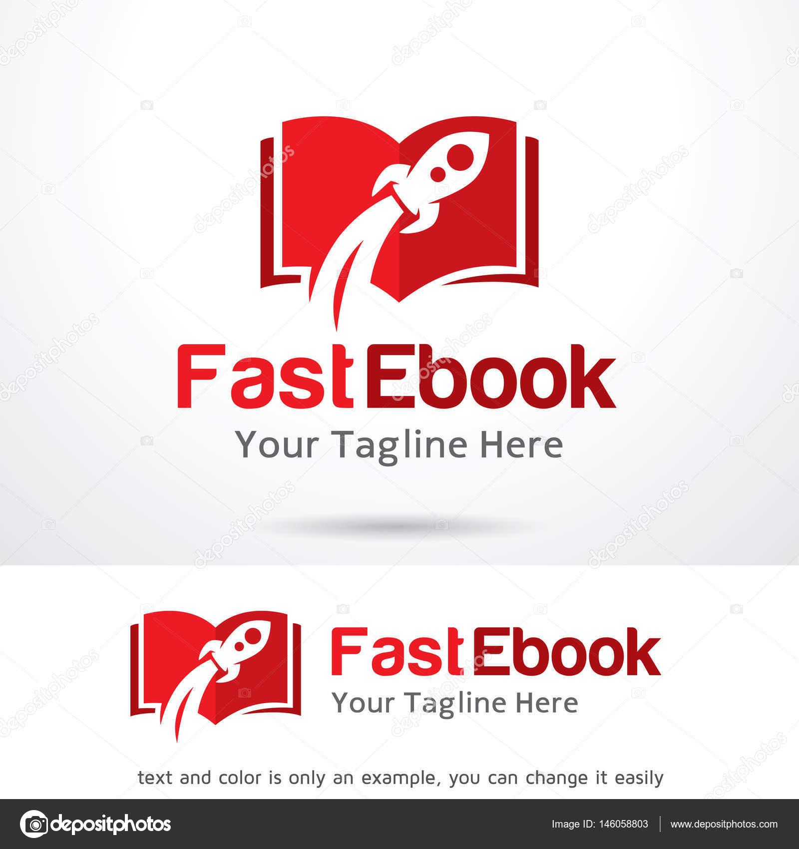 Fast Ebook Logo plantilla diseño Vector — Vector de stock ...