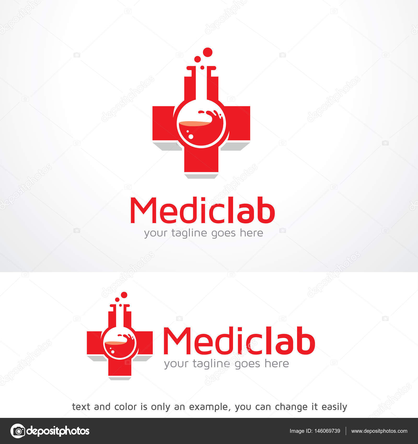 medic lab logo template design vector stock vector gunaonedesign