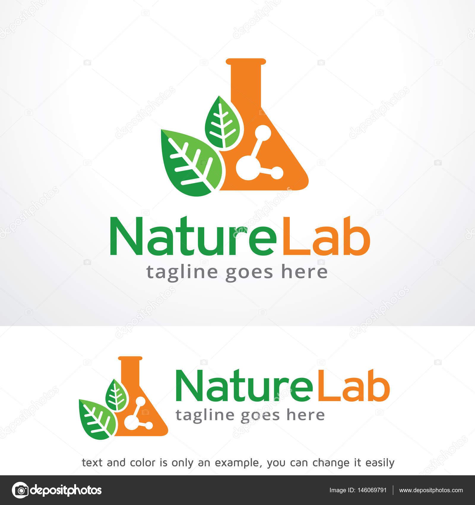 Naturaleza laboratorio Logo plantilla diseño Vector — Archivo ...