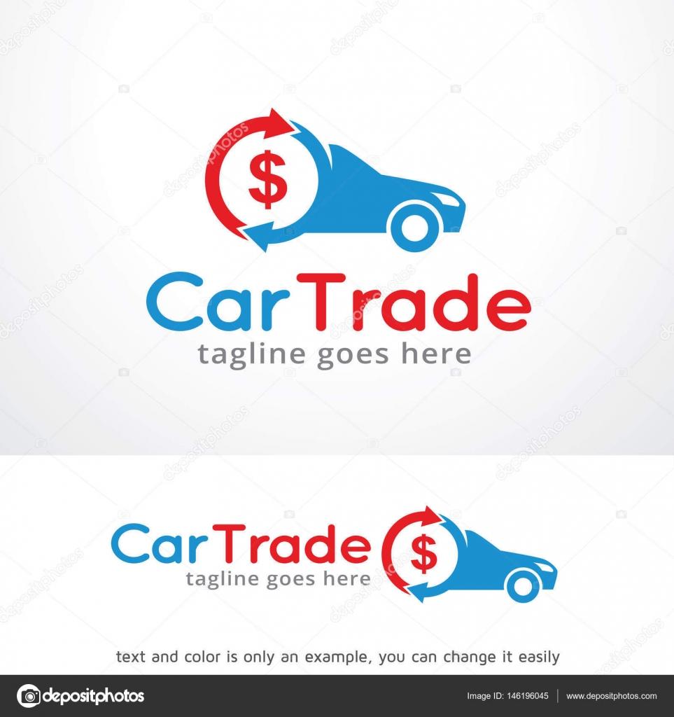 Coche comercial Logo plantilla diseño Vector — Vector de stock ...