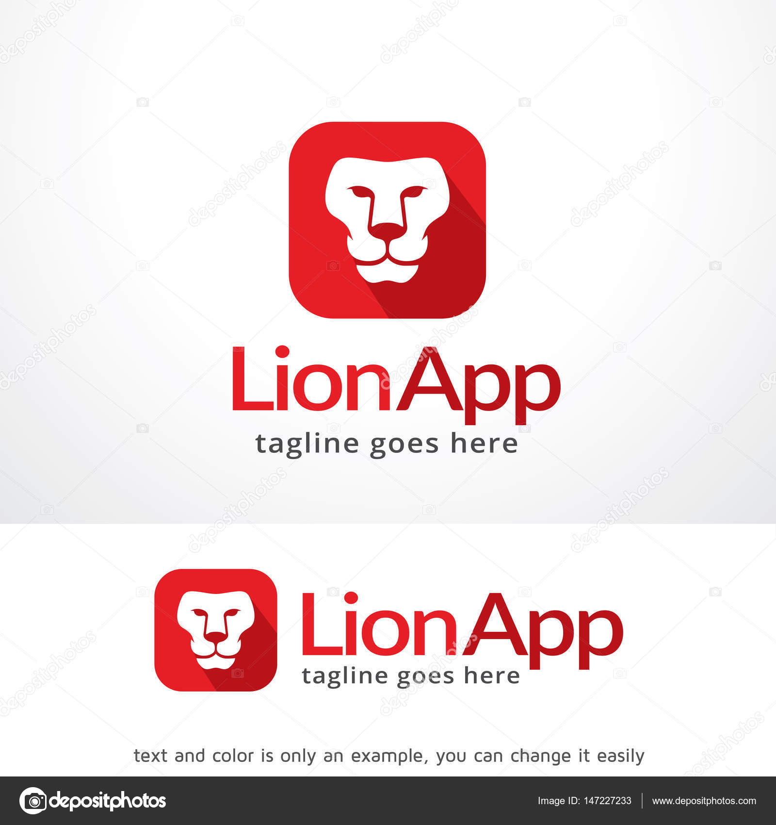 lion app logo template design vector emblem design concept