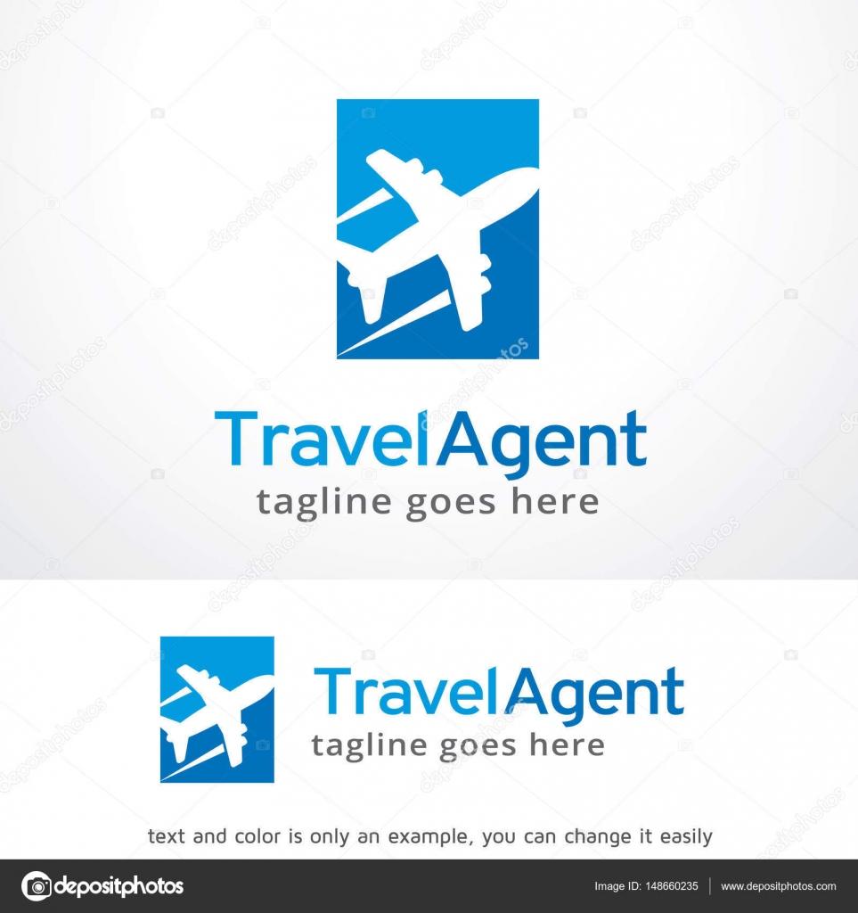 Travel Agent Logo Template Design Vector Emblem Concept Creative Symbol Icon