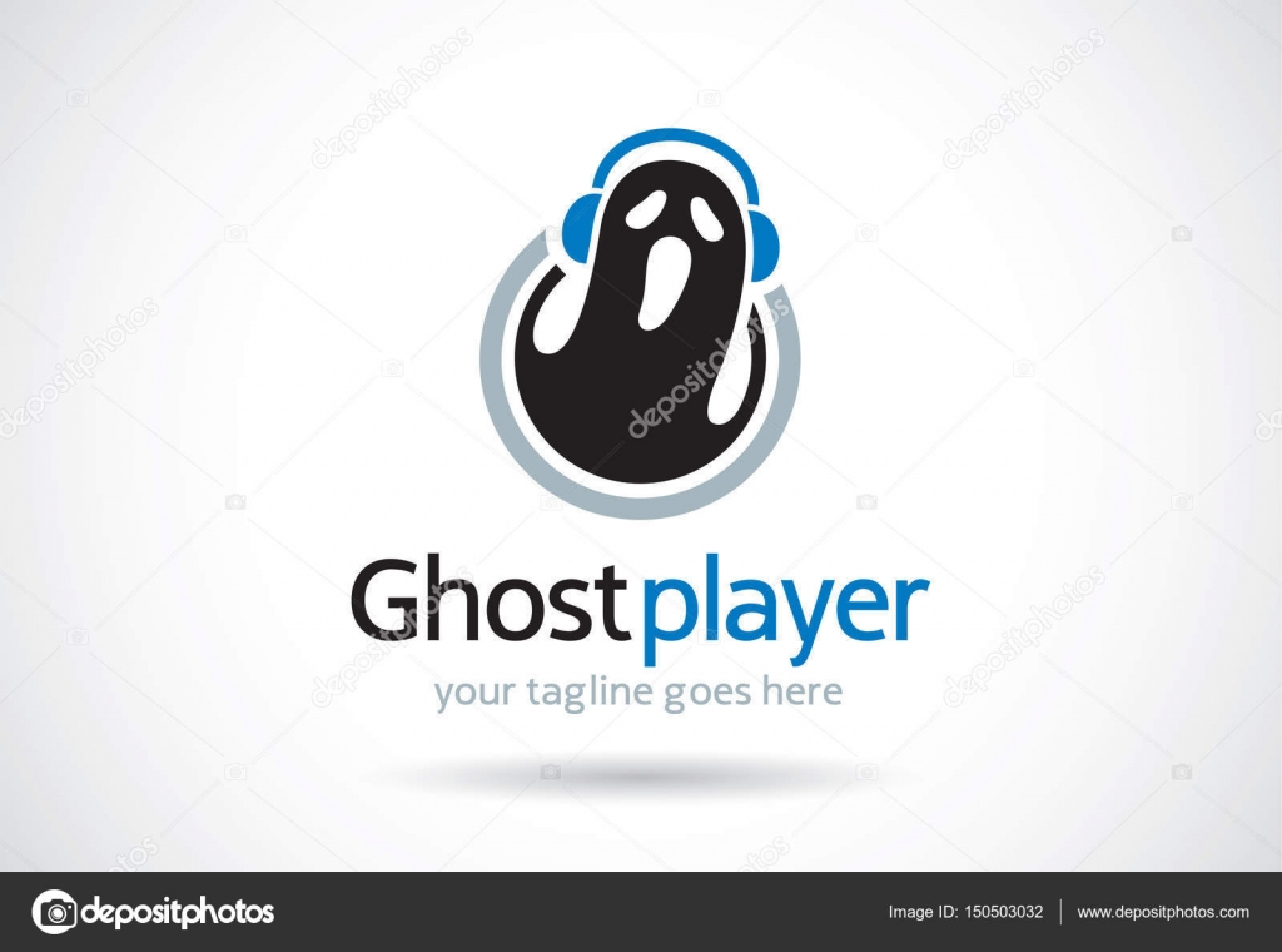 Ghost Template   Ghost Player Logo Template Design Vektor Emblem Designkonzept