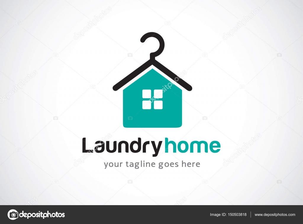 Laundry Home Logo Template Design Vector, Emblem, Design Concept ...