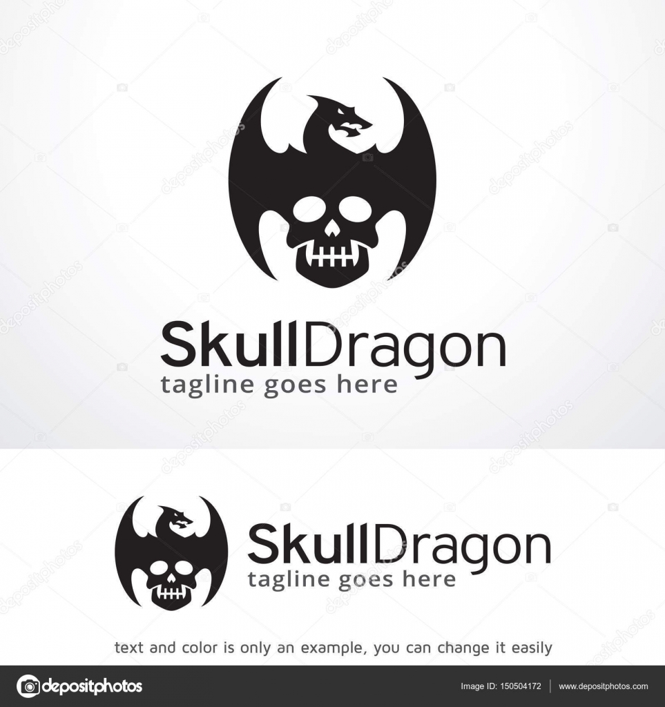 Skull dragon logo template design vector emblem design concept skull dragon logo template design vector emblem design concept creative symbol icon buycottarizona Images