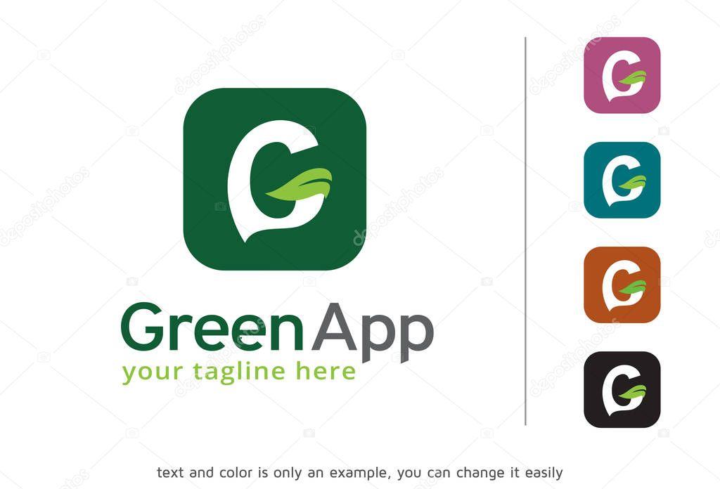 Letter G Leaf Logo Template Design Vector, Emblem, Design Concept, Creative Symbol, Icon