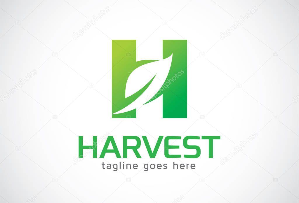 Letter H Leaf Logo Template Design Vector, Emblem, Design Concept, Creative Symbol, Icon