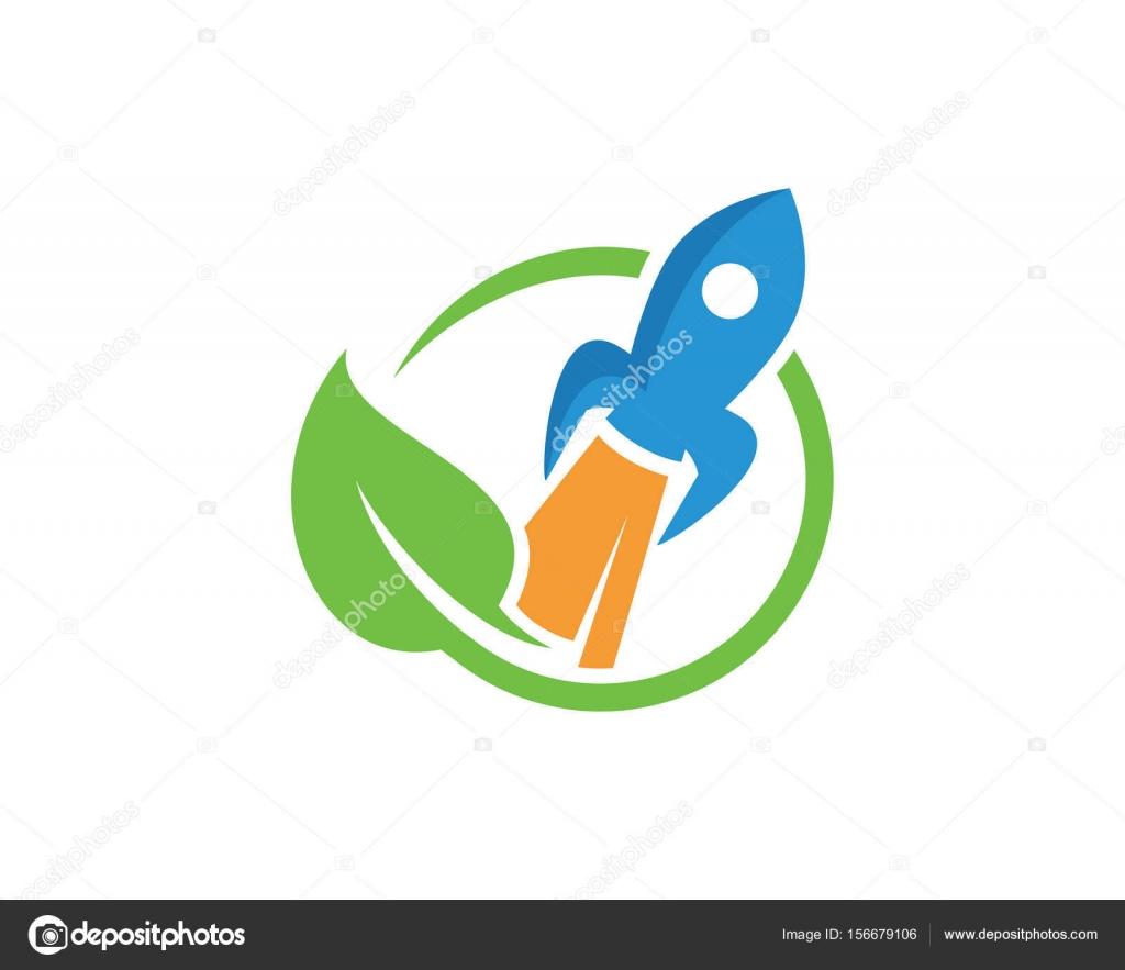 Naturaleza cohete Logo plantilla diseño Vector, emblema, concepto ...