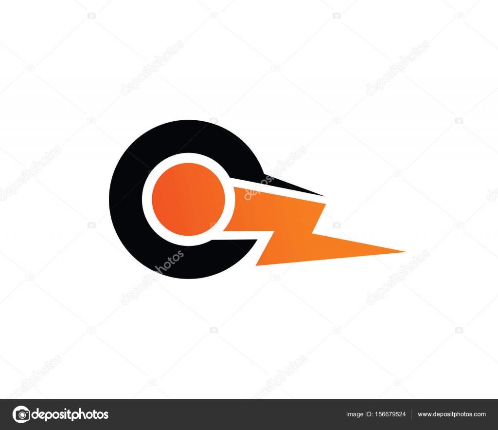 Abstract Letter Q Lightning Logo Template Design Vector Emblem Concept Creative Symbol