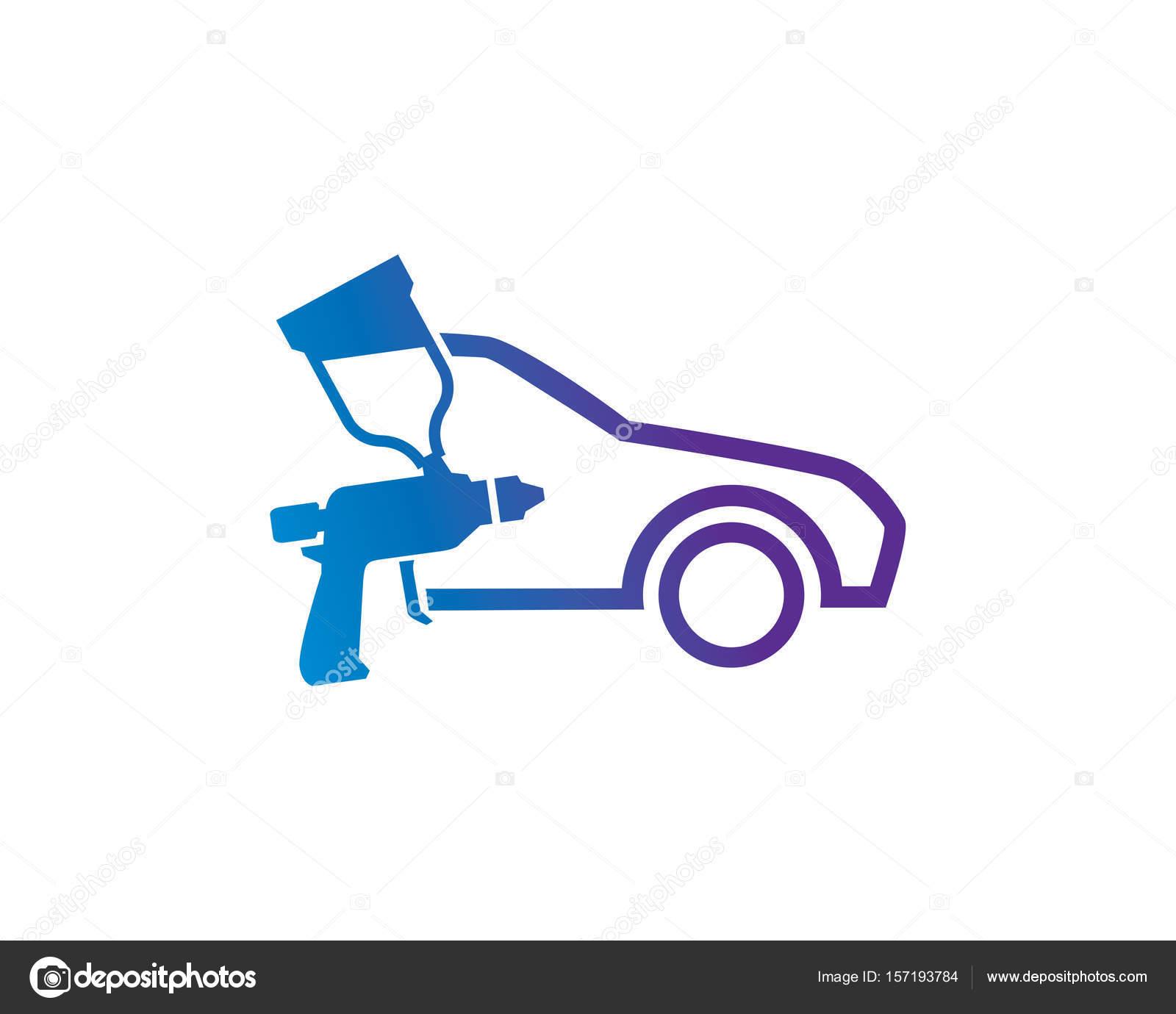 Paint Shop Logo Template Design Vector, Emblem, Design