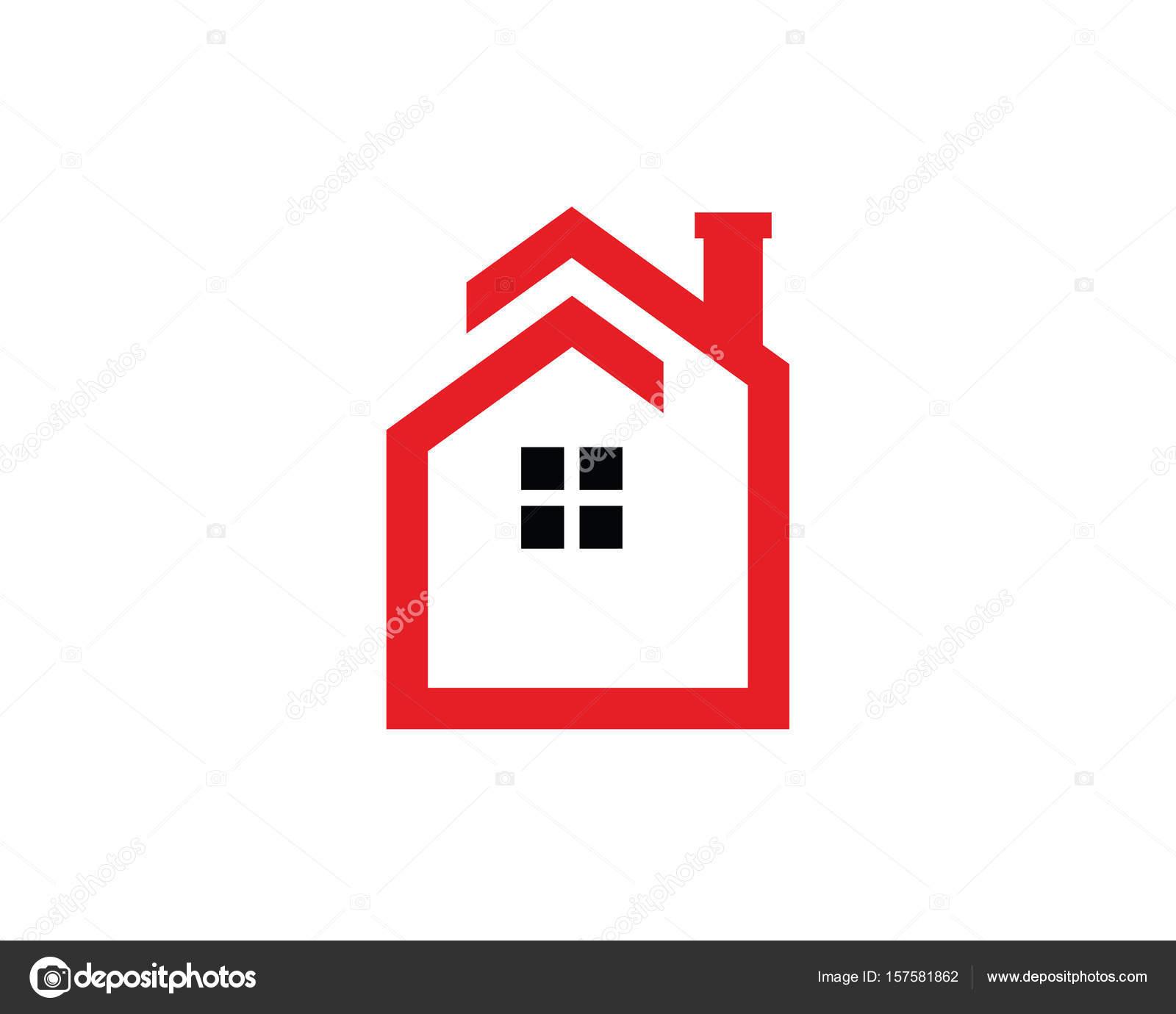 Minimalist House Logo Template Design Vector Stock Vector