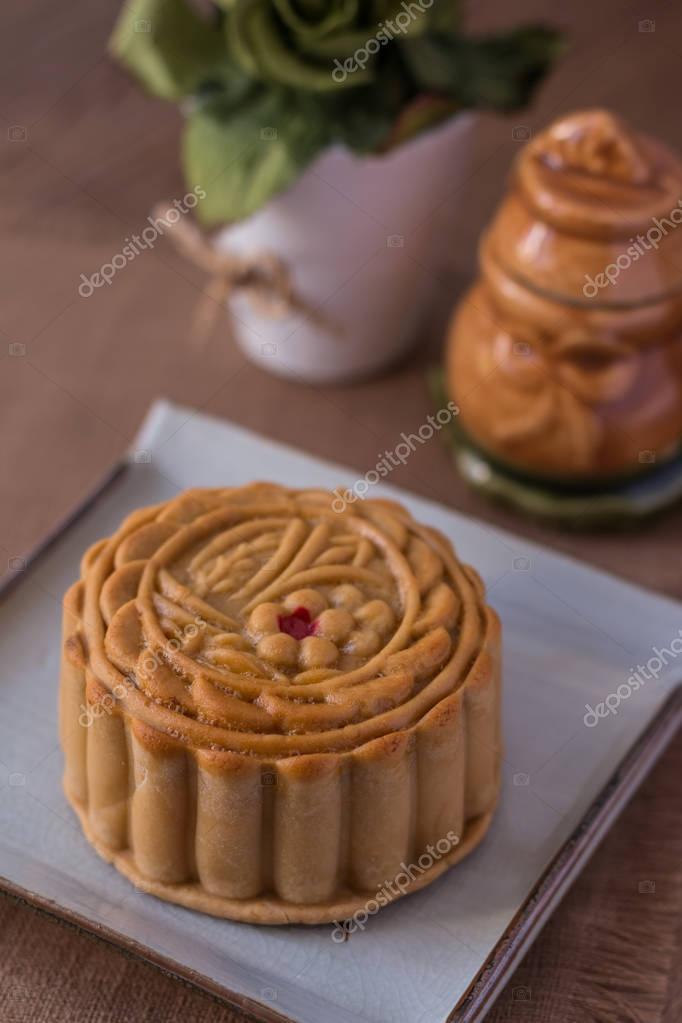 Mond Kuchen Chinesisch Mitte Herbst Festival Mond Kuchen Stockfoto