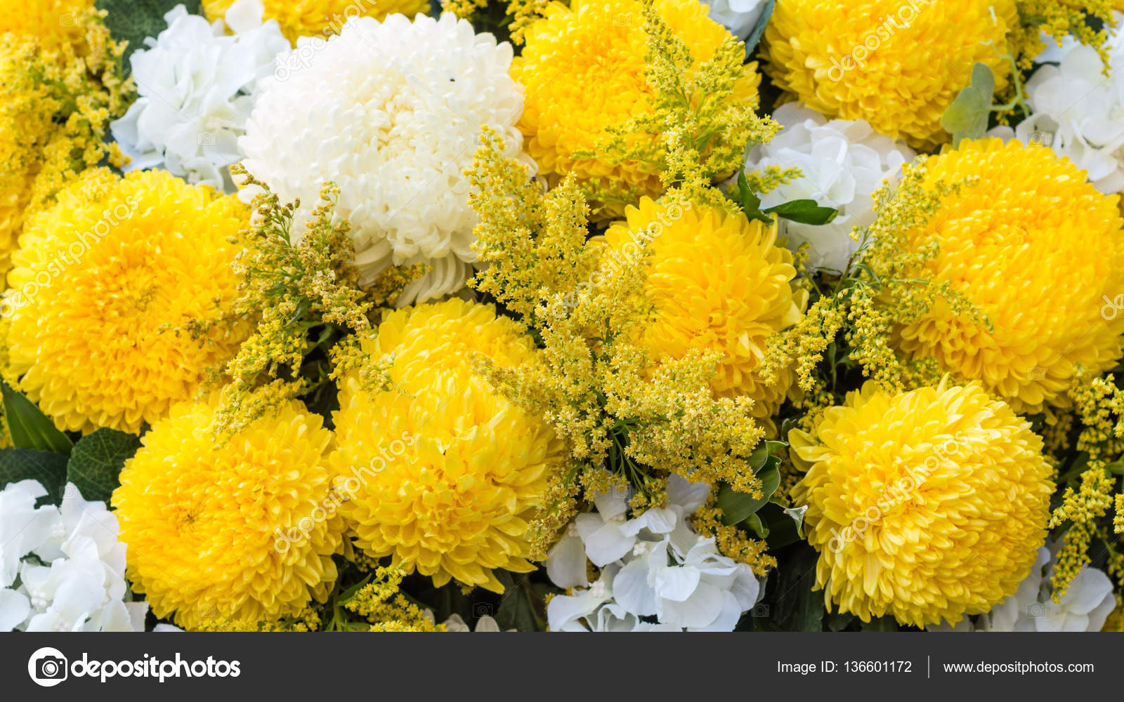 Flowers Abstract Soft Floral Natural Background From Yellow And