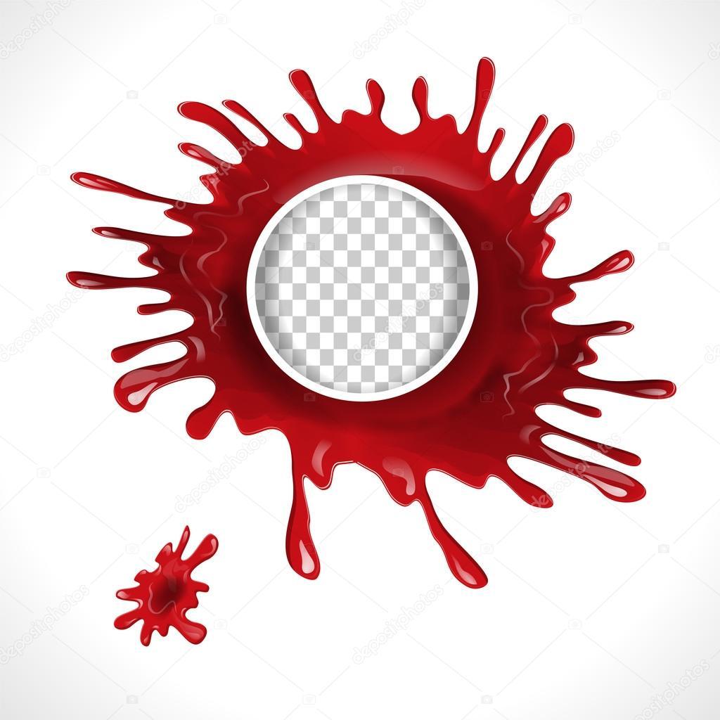 Marco de círculo de salpicaduras de sangre — Archivo Imágenes ...