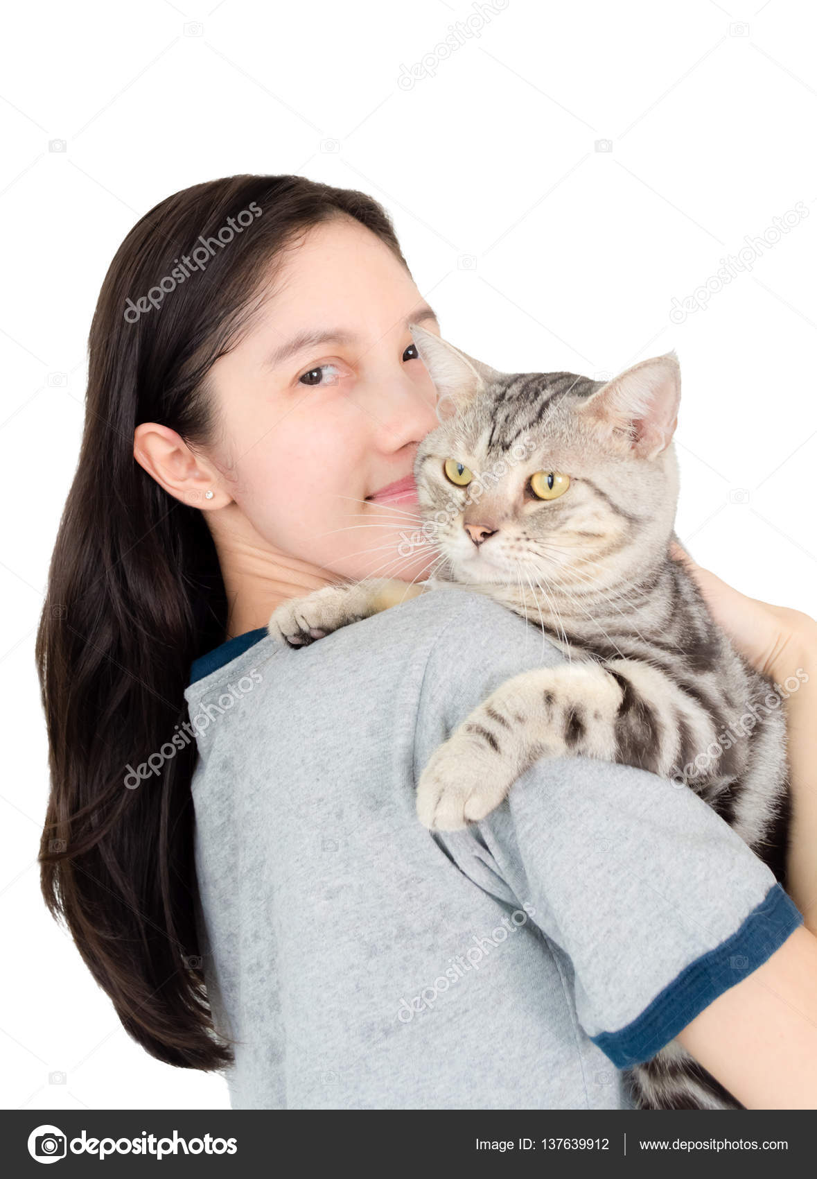 Graisse et serrГ© chatte