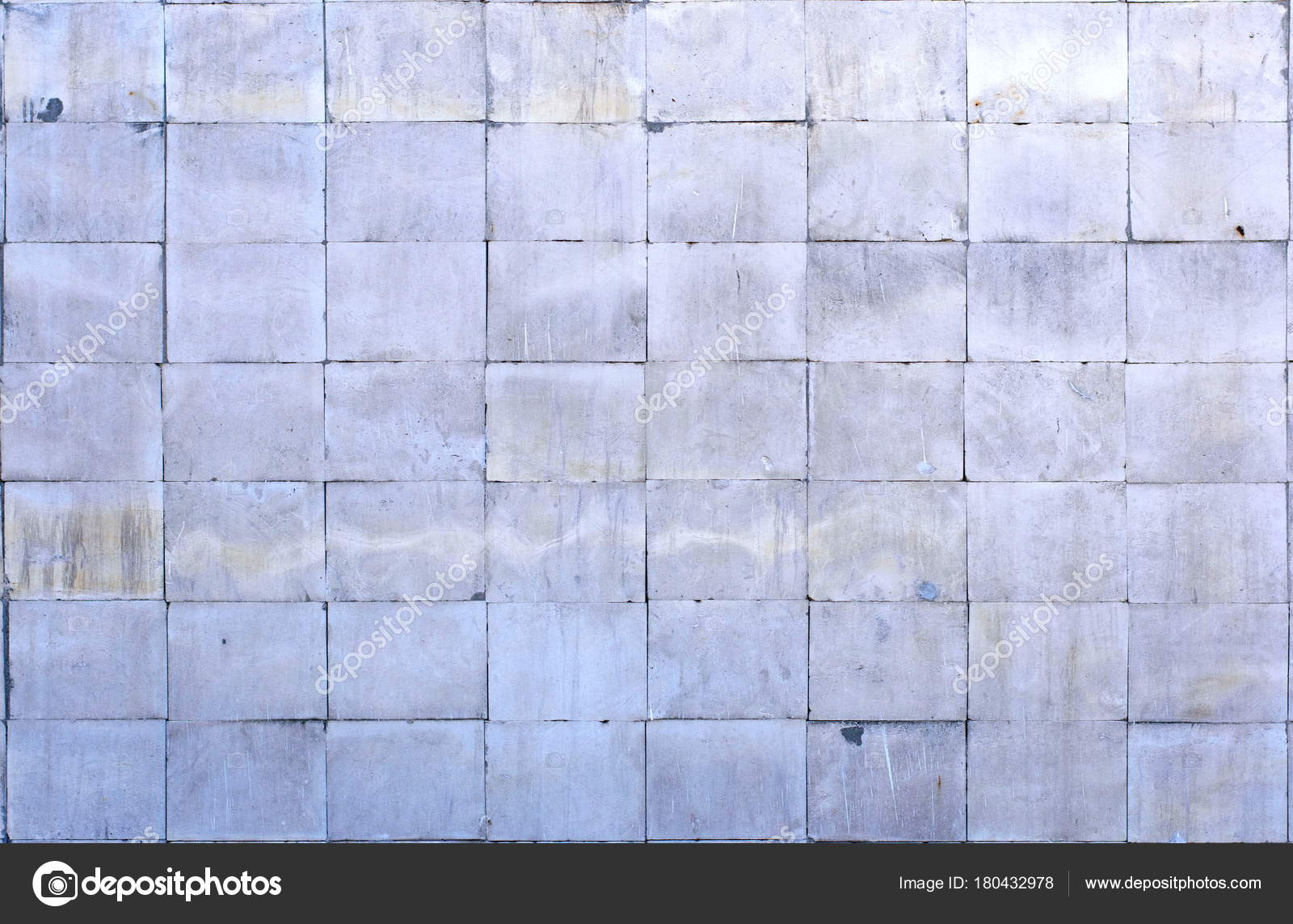 Tile Of Polished Gray Limestone As Finishing Material For Exterior A Building Stock Photo