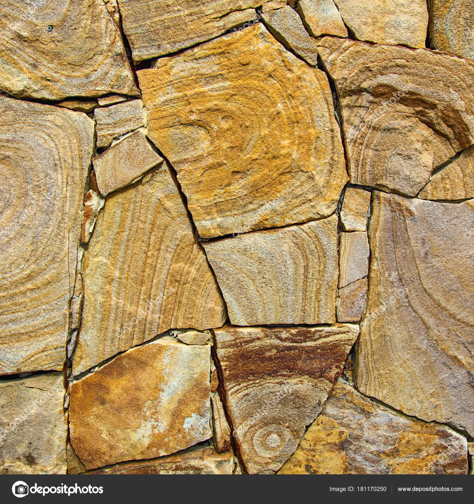 Decorative modern stone wall of chipped stone for background — Stock ...