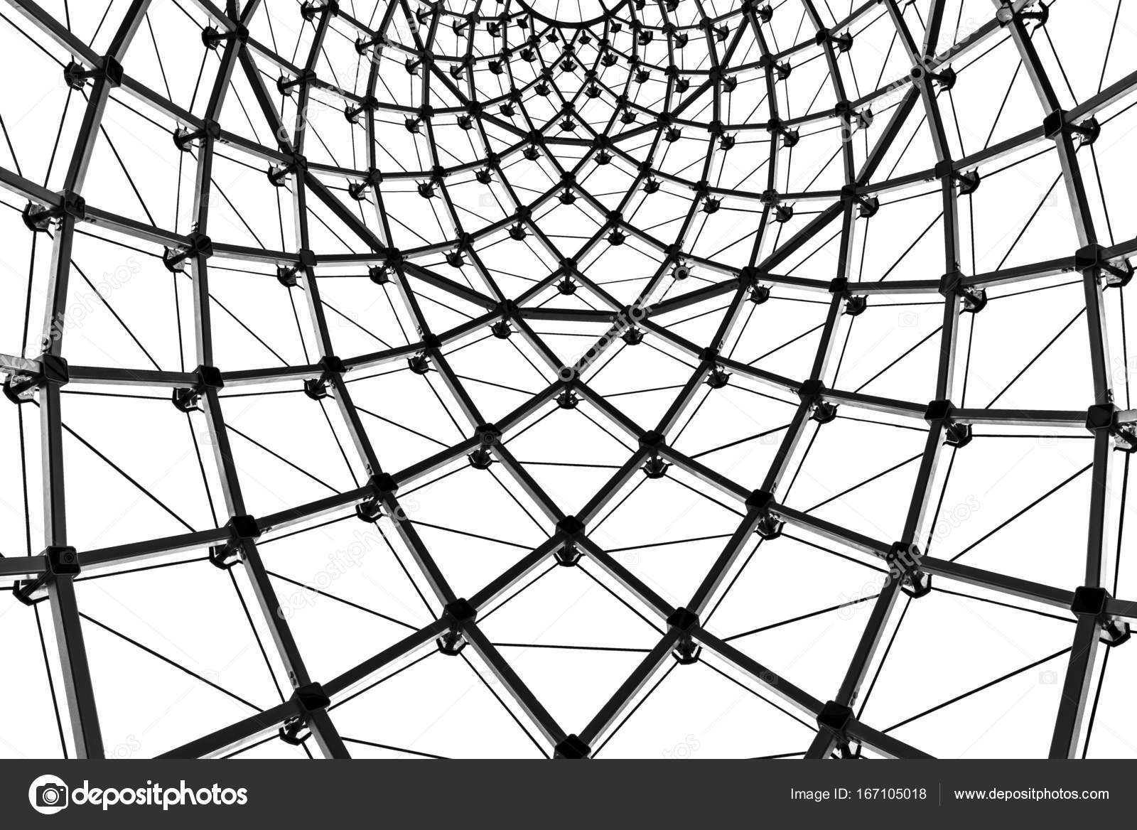 abstract architectural background curved steel beam glass ceiling Steel I Beams abstract architectural background curved steel beam glass ceiling stock image