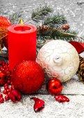 Vánoční dekorace dřevěné pozadí