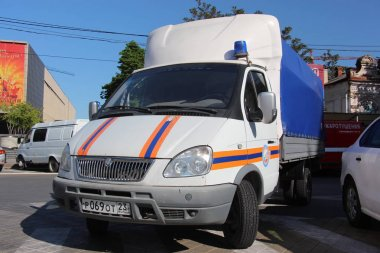 Russian rescue car Gazelle of the Ministry of Emergency Situations