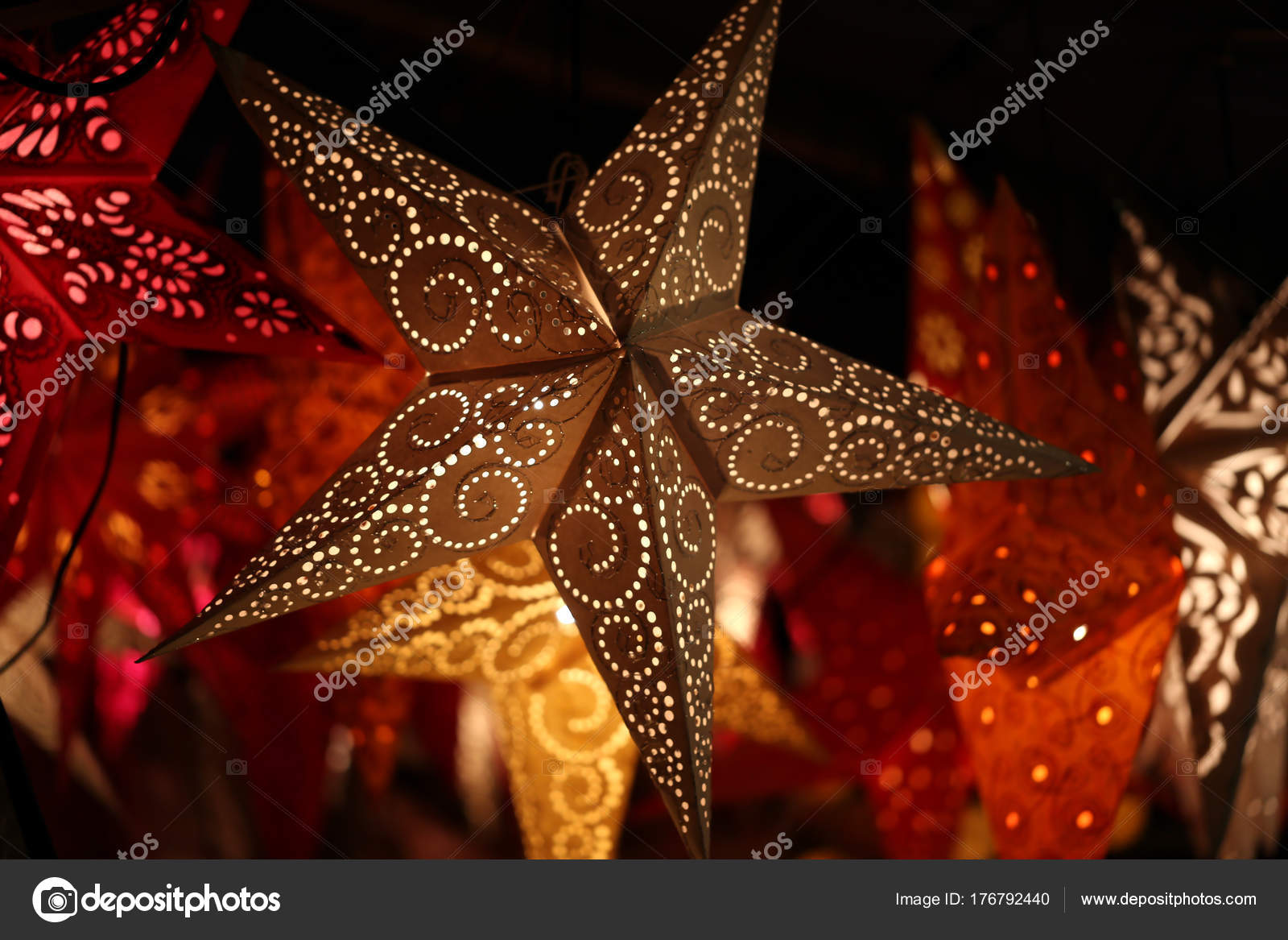 Star Lanterns Background Star Lanterns Stock Photo C Malleo 176792440