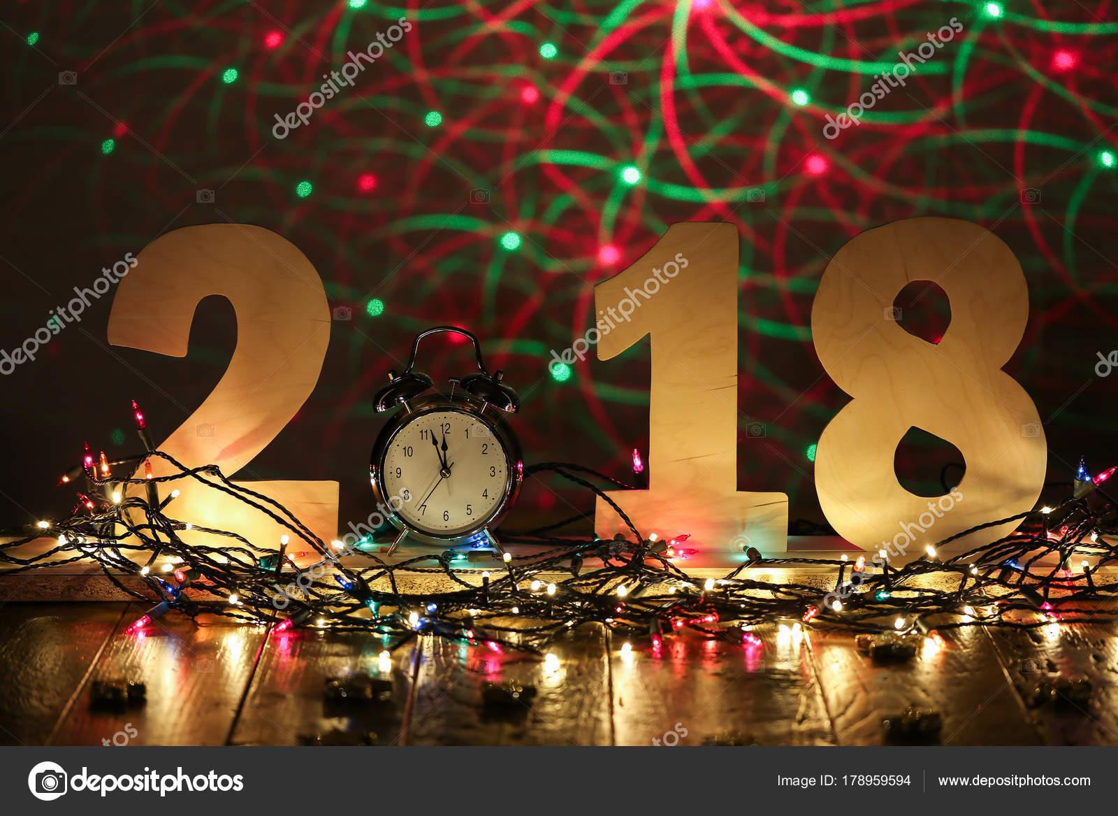 Neue Jahr 2018 Schöne Weihnachten Und Silvester Szene — Stockfoto ...