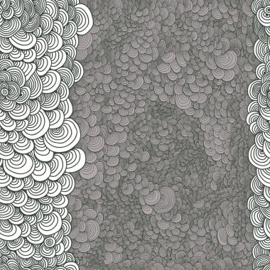 Abstract seamless astrakhan curl circles, drawn with curls vecto