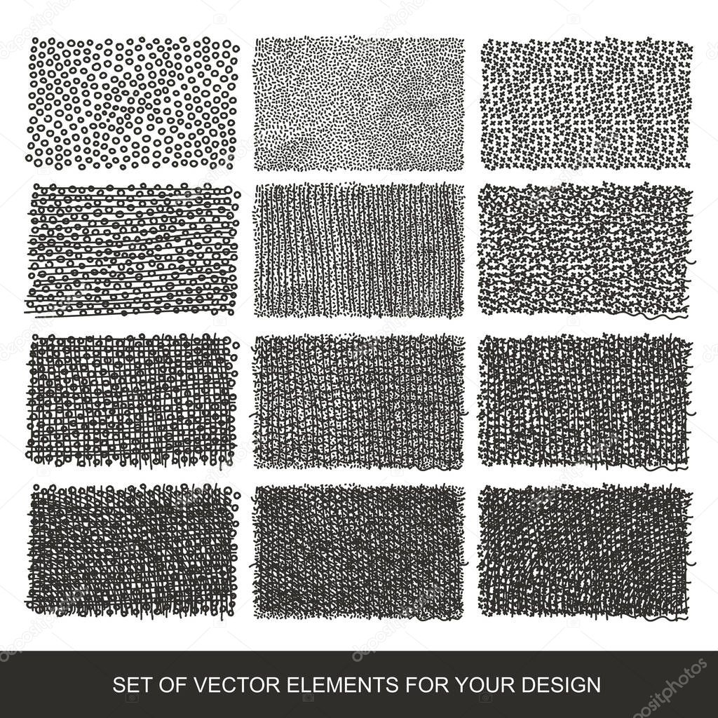 set drawing gradient texture brushes hand drawn abstract design stock vector subjob 130342038. Black Bedroom Furniture Sets. Home Design Ideas