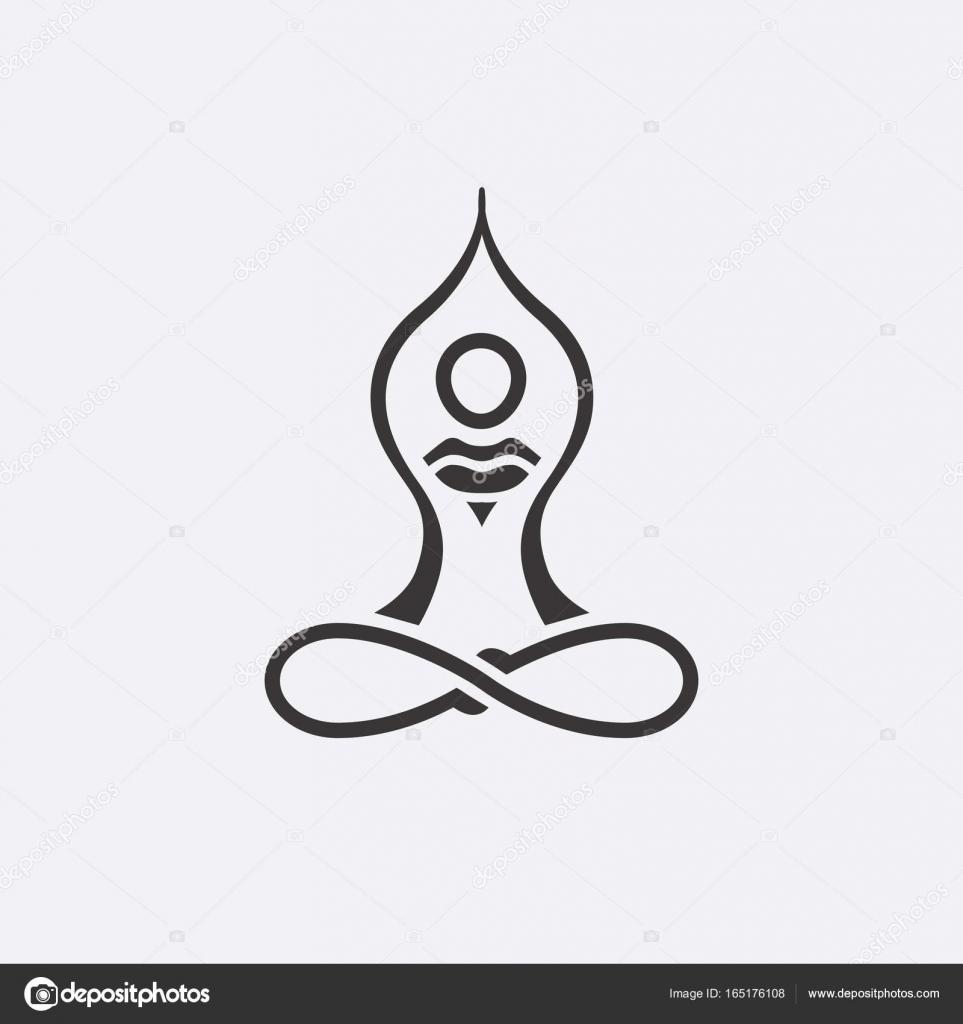 Yoga Logo diseño abstracto vector la plantilla estilo lineal ...