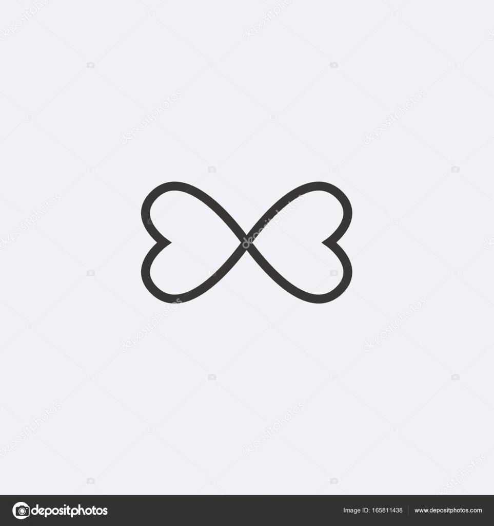 Grafisches Symbol Der Liebe Ist Das Herz Im Zeichen Der