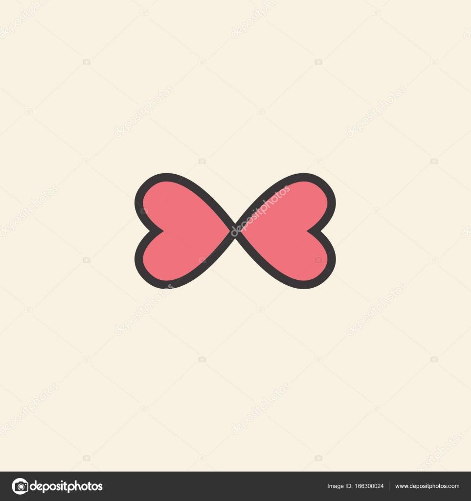 Symbole graphique de l amour est le c ur dans le signe de l infini illustration vectorielle - Le signe de l infini ...